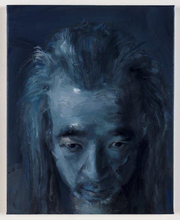 Autoportrait, le calme (Photography: Clérin-Morin © Yan Pei-Ming, ADAGP, Paris, 2021.)