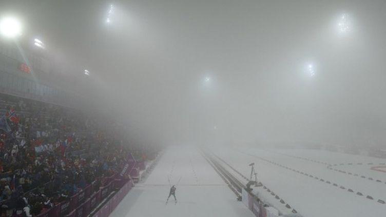 Le brouillard se propage sur les compétitions de biathlon (KAY NIETFELD / DPA)