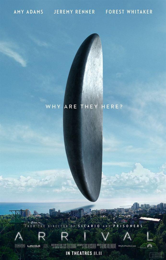 """""""Premier contact"""" : une des affiches américaines(Arrival en VO)  (Sony Pictures)"""
