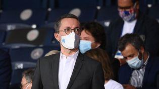 Jacques-Henri Eyraud lors du match de Ligue 1 entre le PSG et l'OM le 13 septembre 2020. (FRANCK FIFE / AFP)