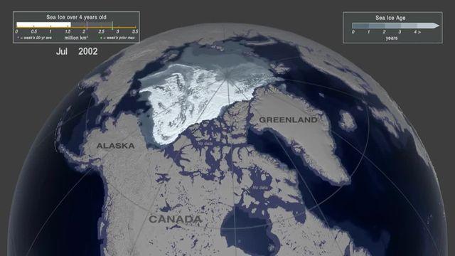 Fonte Arctique Nasa