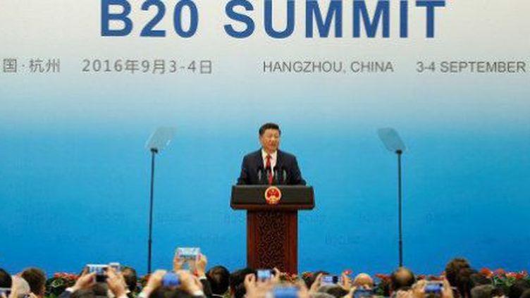 Le premier ministre chinois Li Kequiang reçoit son homologue canadien Justin Trudeau à la veille du sommet du G20. (WANG ZHAO / AFP)
