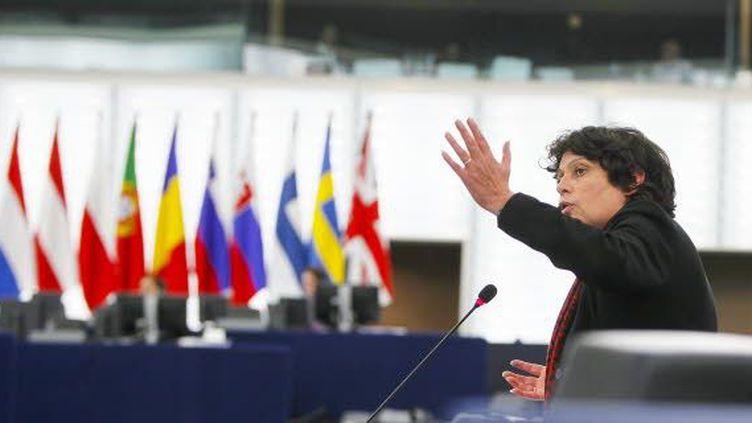 Une parlementaire démonstrative (European Union 2013-EP)