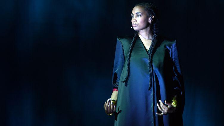 La chanteuse Imany, le 11 juillet 2021 aux Francofolies de la Rochelle. (GAIZKA IROZ / AFP)