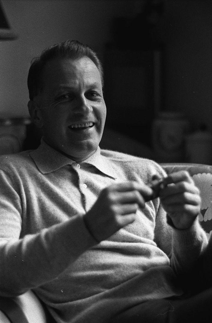 François Chalais chez lui, en avril 1963  (DALMAS/SIPA)