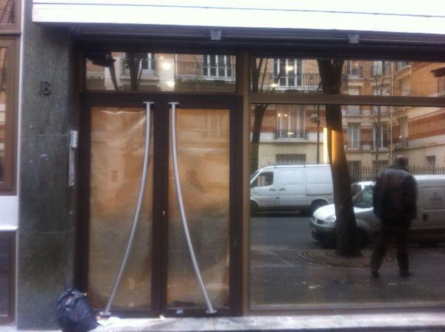 Les locaux encore en travaux du QG de Nicolas Sarkozy, rue de la Convention (AB)
