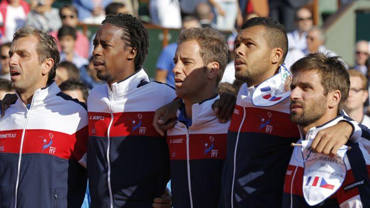 Julien Benneteau, Gaël Monfils, Richard Gasquet, Jo-Wilfried Tsonga et Arnaud Clément
