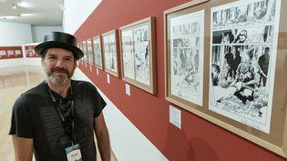 L'illustrateur anglais Charlie Adlard au Musée d'art contemporain de Lyon (MAXIME JEGAT / MAXPPP)