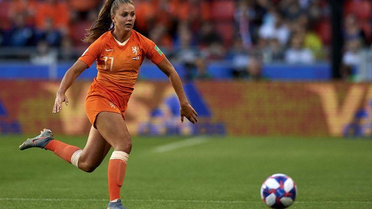 Lieke Martens pendant le match des Pays-Bas contre le Japon, le 25 juin 2019 à Rennes (JOSE BRETON / NURPHOTO)