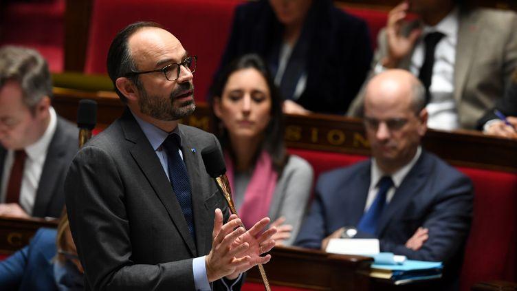 Le Premier ministre, Edouard Philippe, le 31 janvier 2018 à l'Assemblée nationale. (ALAIN JOCARD / AFP)