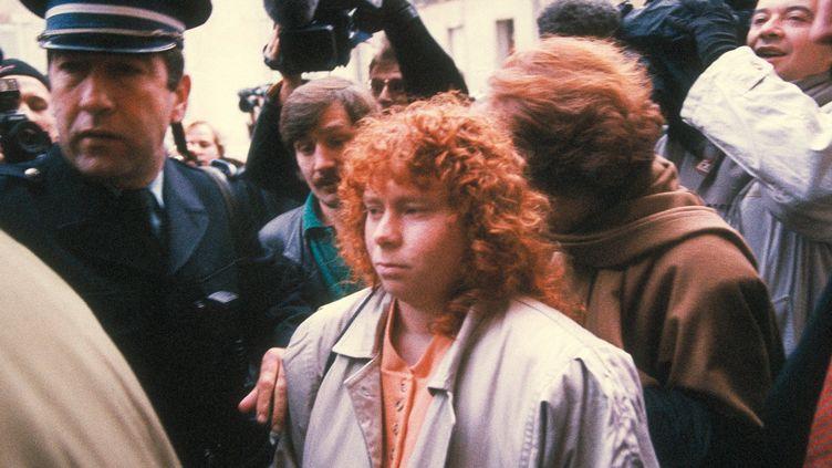 Muriel Bolle lors du procès Villemin àDijon (Côte-d'Or) en 1993. (MAXPPP)