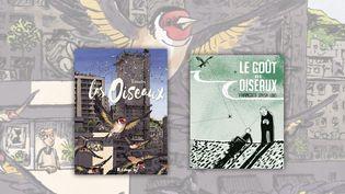 """Couvertures des albums BD""""Les Oiseaux"""", de Troubs et """"Le Goût des oiseaux"""", de Francesco Sousa Lobo (FUTUROPOLIS / Editions RACKHAM)"""
