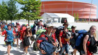 Les scouts ont été évacués au Zénith de Strasbourg à cause d'un orage qui a causé des dégâts sur leur camp. (  MAXPPP)