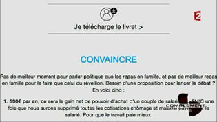 Convaincre  (CAPTURE ECRAN FRANCE 2)