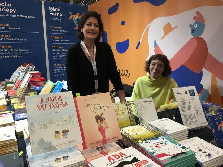 Elisabeth Tielmans (à gauche) éditions La Pastèque  (Laurence Houot - Culturebox)