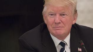 Le président des Etats-Unis, Donald Trump, à la Maison Blanche, à Washington, le 8 juin 2017. (CHRIS KLEPONIS / DPA)