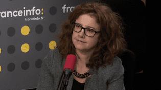 Virginie Duval, présidente de l'Union Syndicale des Magistrats, le 6 octobre 2017. (FRANCEINFO)