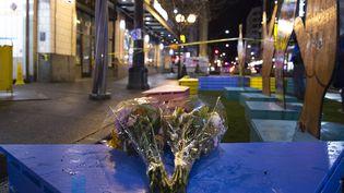 Un mortet sept blessés lors d'une fusillade à Seattle aux Etats-Unis, le 22 janvier 2020. (JASON REDMOND / AFP)