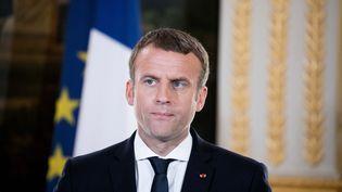 Emmanuel Macron le 26 juin 2017 à l'Élysée. (CHRISTOPHE MORIN / MAXPPP)