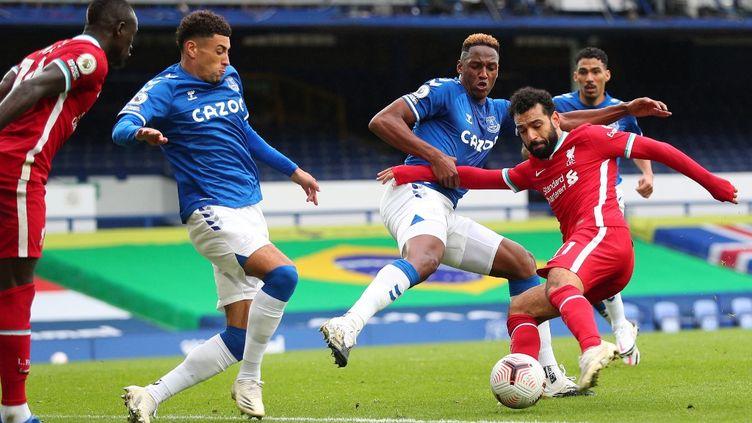 Mohammed Salah inscrit son 100e but avec les Reds (PETER BYRNE / POOL)