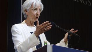 Christine Lagarde à la Brookings Institution, à Washington, le 8 juillet 2015. (SIPANY / SIPA  )