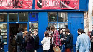 Le Disquaire Day, autour de la place Sainte Marthe à Paris 10e, en 2013.  (Philippe Lecoeur / IP3 Press /MaxPPP)