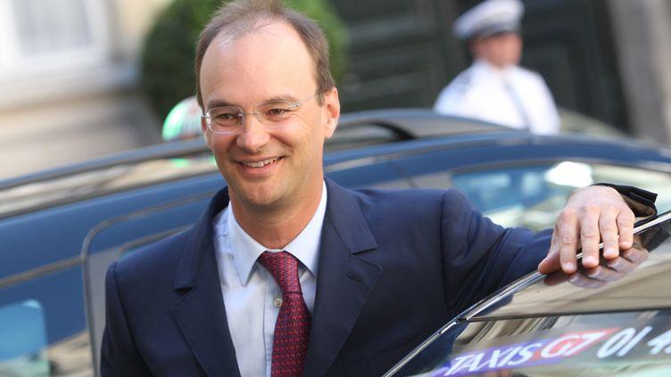 Nicolas Rousselet, PDG du groupe G7, le 2 juin 2009 au ministère de l'Intérieur, à Paris. (MAXPPP)