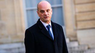Jean-Michel Blanquer, ministre de l'Education nationale, à la sortie du Conseil des ministres à l'Elysée, le 6 janvier 2020. (XOSE BOUZAS / AFP)