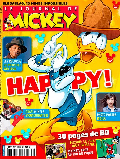 """Capture d'écran de la une du """"Journal de Mickey"""" du 16 avril 2014. (LE JOURNAL DE MICKEY / DISNEY HACHETTE PRESSE )"""