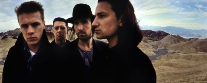 Les 4 membres du groupe pendant les séances photos en décembre 1986  (Anton Corbijn)