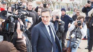 François Fillon en déplacement de campagne, le 24 mars 2017 à Anglet (Pyrénées-Atlantiques). (MAXPPP)