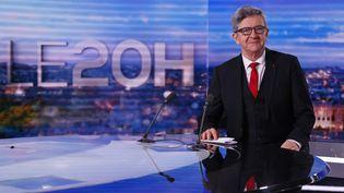 Pour la troisième fois, le chef de filede La France insoumise, Jean-Luc Mélenchon, se porte candidat à l'élection présidentielle. (THOMAS SAMSON / AFP)