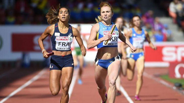 Agnès Raharolahy a terminé le relais français à la 2e place
