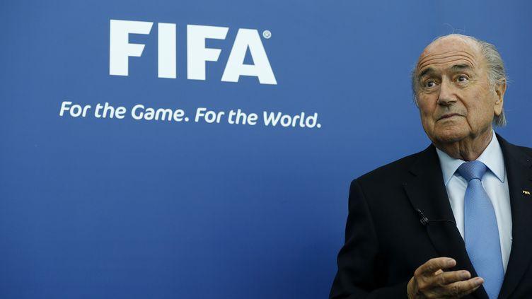 Sepp Blatter à Zürich (Suisse), le 3 septembre 2013. (ARND WIEGMANN / REUTERS)