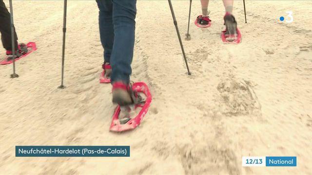 Loisirs : dans le Pas-de-Calais, les touristes découvrent les raquettes sur sable
