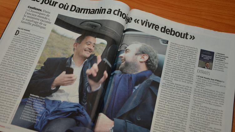 Article sur Gérard Darmanin dans le magazine Le Point du jeudi 23 novembre. (JEAN-CHRISTOPHE BOURDILLAT / RADIO FRANCE)