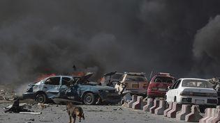 Un véhicule piégé aexplosé à Kaboul, le 31 mai 2017. (SHAH MARAI / AFP)