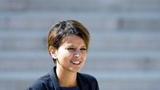 Najat Vallaud Belkacem, ici à l'Elysée le 3 septembre 2014, est devenue la cible privilégiée d'une partie de la droite et de l'extrême-droite. (ALAIN JOCARD / AFP)