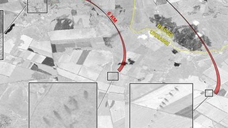 (Des images de tirs de missiles issues du Renseignement américain © Département d'Etat)