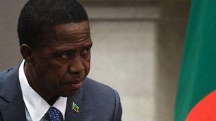 Edgar Lungu, chef de l'Etat zambien. (VLADIMIR ASTAPKOVICH / SPUTNIK)