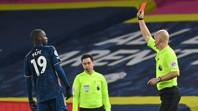 Nicolas Pépé a connu sa première expulsion avec Arsenal (PAUL ELLIS / POOL)