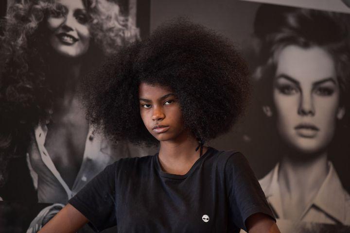 La mannequin brésilienne Gloria Maria Siqueira à Sao Paulo au Brésil, le 6 novembre 2020 (NELSON ALMEIDA / AFP)