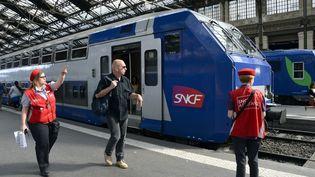 Les perturbations les plus importantes sont à prévoir sur le réseau TER et le trafic du TGV Sud-Est, a annoncé jeudi 5 décembre la direction de la SNCF. (BERTRAND GUAY / AFP)