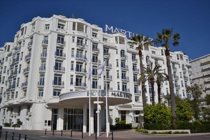 L'hôtel Martinez, à Cannes. (NOEMIE BONNIN / RADIO FRANCE)
