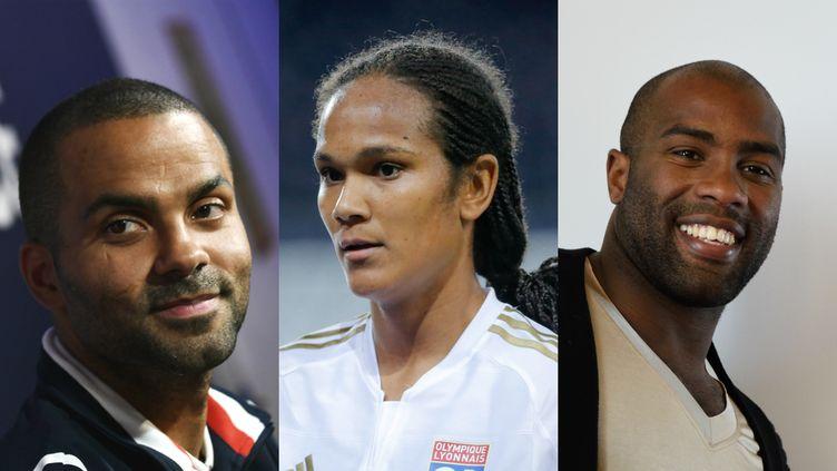 Le basketteur Tony Parker, la footballeuse Wendie Renard et le judoka Teddy Riner font partie des athlètes qui représenteront la France aux Jeux olympiques de Rio (Brésil), du 5 au 21 août. (AFP)