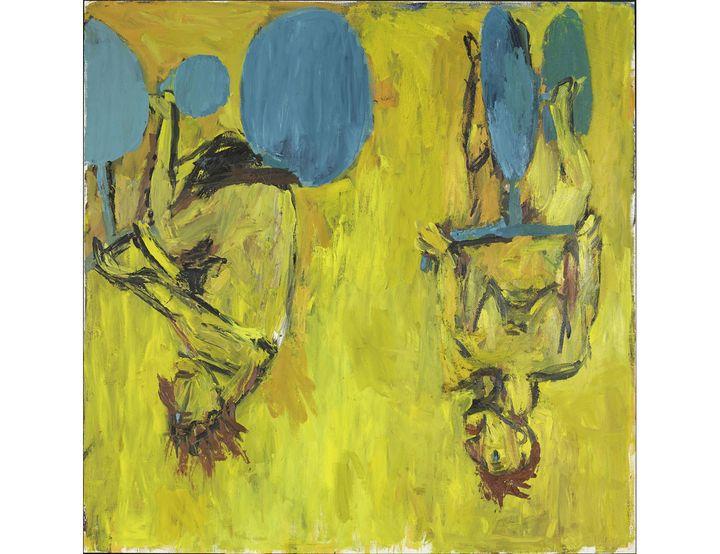 """""""Die Mädchen von Olmo II [Les Filles d'Olmo II]"""", 1981,Musée national d'art moderne, Centre Pompidou, Paris (© Georg Baselitz, 2021 Photo © Centre Pompidou, MNAM-CCI / Bertrand Prévost / Dist. RMN-GP)"""