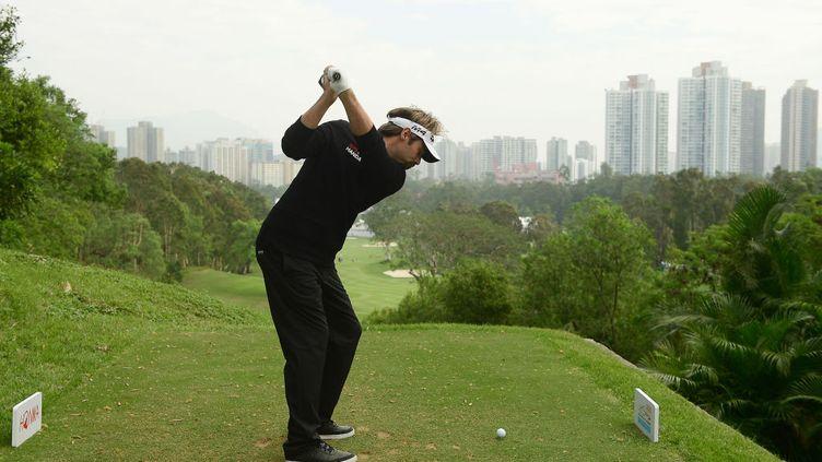 22 novembre 2018. Victor Dubuisson à l'Open de Hong Kong lors dutournoi annuel de golf du Tour européen PGA et de l'Asian Tour. (AREP KULAL / GETTY IMAGES ASIAPAC)