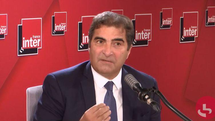 Christian Jacob, président de LR, député de Seine-et-Marne, le 28 septembre sur France Inter. (FRANCEINTER / RADIOFRANCE)
