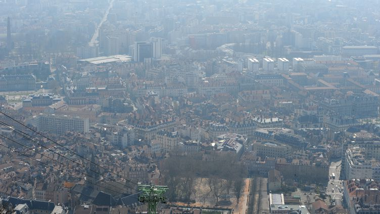La ville de Grenoble, le 14 mars 2014. (JEAN-PIERRE CLATOT / AFP)