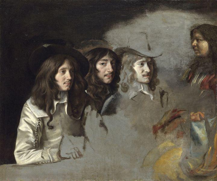 "Louis et Mathieu Le Nain, ""Triple portrait"", vers 1646-1648, Londres, National Gallery  (The National Gallery, Londres, Dist. RMN-Grand Palais / National Gallery Photographic Department)"